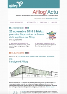 Afilog'Actu Newsletter#01 - Septembre 2018